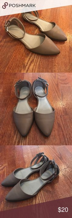 Forever 21 flats Forever 21 tan flats with wrapped straps. Only worn twice, size 8 Forever 21 Shoes Flats & Loafers