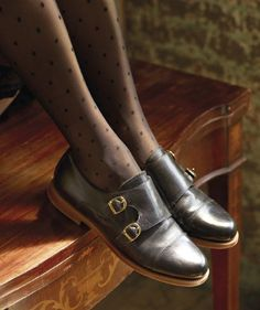 Russell & Bromley's double-strap Grosvenors (£175)Product Code: 122911 £175 mainly loving the tights