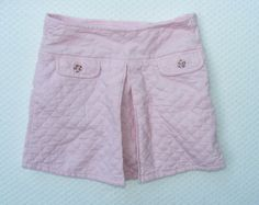 GYMBOREE Quilted Skirt, Pink Corduroy Pleated Skirt, Kitty Glamour, undershort,8 #Gymboree