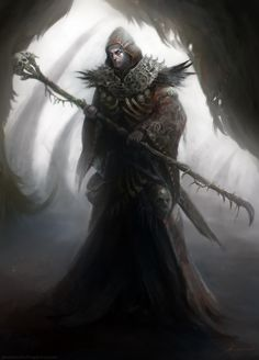 The Warlock Necromancer by Manzanedo.deviantart.com on @deviantART