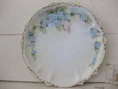 Sweet Hand Painted Dish-vintage dish, vintage flowers, hand painted flowers, hand painted vintage dish