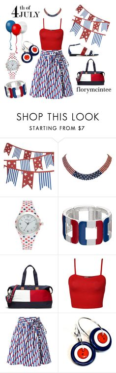 """""""4th of July Weekend"""" by florymcintee ❤ liked on Polyvore featuring Crate and Barrel, Marina J., Kim Rogers, Tommy Hilfiger, WearAll, Marc Jacobs, Sergio Rossi, redwhiteandblue and july4th"""