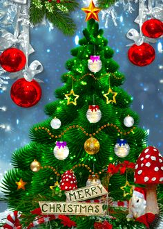 Pin on Weihnachten Animated Christmas Tree, Xmas Gif, Christmas Scenery, Merry Christmas Pictures, Merry Christmas Images, Christmas Wishes, Christmas Art, Christmas Greetings, Beautiful Christmas