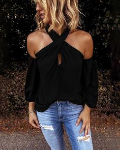 Shoulder Shirts, Off Shoulder Tops, Cold Shoulder Top Outfit, Blouses For Women, T Shirts For Women, Summer Blouses, Basic Tops, Plus Size Blouses, Casual Shirts