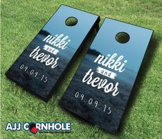 Wedding Moonforest Cornhole set! Your guests will have so much fun at your wedding reception! Order yours TODAY at www.ajjcornhole.com