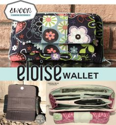 Eloise has a place for everything! This wallet includes a zip-around main compartment and a separate trifold compartment with magnetic snap. There are 18 card slots, 3 bill slots and even a little secret compartment. Keep your most used cards in the trifold compartment for easy access and tuck your phone into the zippered pocket for a night out. The wallet still looks and functions great if you decide to omit the trifold compartment (also it's a bit easier to sew).