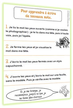 Mémoriser une orthographe nouvelle Study French, Core French, Learn French, French Teaching Resources, Teaching French, Teaching Spanish, Tongue Twisters, Becoming A Teacher, Adhd