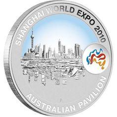 Shanghai World Expo 2010 1oz Shanghai Cityscape Silver Coin  coin , perth mint coins, bullion coins , shanghai silver  coins