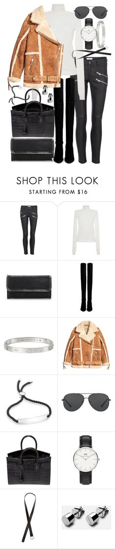 """Untitled #20604"" by florencia95 ❤ liked on Polyvore featuring Anine Bing, MSGM, STELLA McCARTNEY, Stuart Weitzman, Cartier, Monica Vinader, Michael Kors, Yves Saint Laurent, Daniel Wellington and H&M"