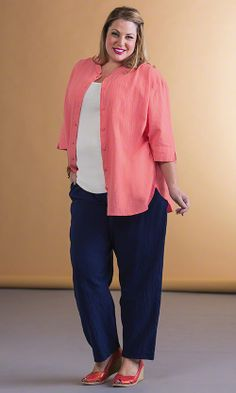 482403e1284 Grace Oversize Shirt and Grace Relaxed Fit Pants   MiB Plus Size Fashion  for Women Mature