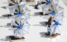 Greek souvenirs: small windmills from Mykonos