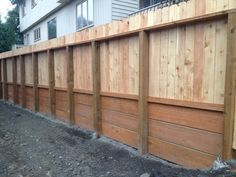 Retaining Wall With Wood Fence On Top Google Search
