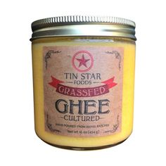 TIN STAR #FOODS - GRASSFED CULTURED #GHEE - 16 OZ | One Stop #Paleo Shop