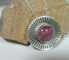 Sterling Silver 925 Pendant with Mid Purple by SilverbirdDesignsUK