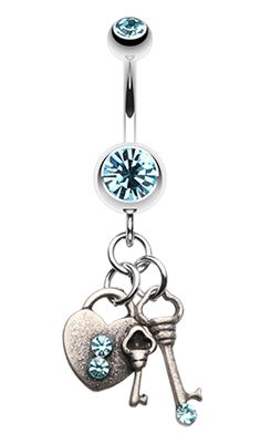 Love Lock Down Belly Button Ring