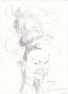 1998. Karikatur, Forestiller, og bestilt af min brors kæreste ;)   © Kim Willi Nielsen