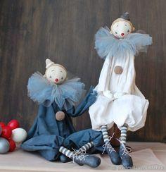Бим и Бом – купить в интернет-магазине на Ярмарке Мастеров с доставкой Sewing Stuffed Animals, Stuffed Toys Patterns, Pet Toys, Doll Toys, Tilda Toy, Fabric Toys, Sewing Projects For Kids, Doll Repaint, Sewing Toys