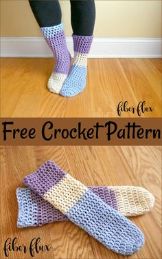 If you've ever wanted to learn how to crochet, even if you've never picked up a hook, this beginner video course is for you! Learn all the fundamentals of crochet while making a modern and cozy pair of fingerless mitts.Free Crochet Pattern: Home Crochet Socks Pattern, Crotchet Patterns, Crochet Boots, Crochet Slippers, Love Crochet, Crochet Crafts, Crochet Yarn, Crochet Clothes, Easy Crochet Socks