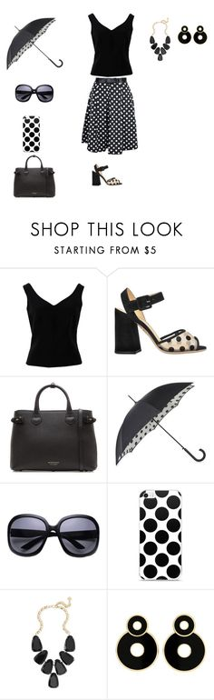 """The polka"" by sierracook14 ❤ liked on Polyvore featuring ADAM, Charlotte Olympia, Burberry, Fulton and Kendra Scott"
