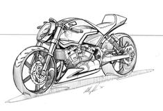 V twin bike sketch Motorcycle Art, Motorcycle Design, Bike Art, Bike Design, Bike Sketch, Car Sketch, Cool Car Drawings, Kart, Arte Horror