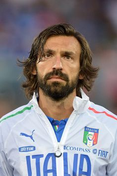 This is Italian soccer player Andrea Pirlo who just happens to be one of the most beautiful players to have ever played the game. Italy National Football Team, Beautiful Player, World Cup Trophy, Andrea Pirlo, European Cup, Soccer Stars, Three Piece Suit, Fox Sports, Goalkeeper