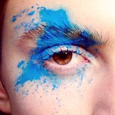 Regram of @afvandevorst #AW16 from @nettart: Color explosion in the Indian holi festival spirit organic dynamic spontaneous and full of impact! #MACBackstage #LFW by maccosmetics