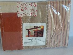 Pier One Patched Jute PatchWork Table Runner Country Home Decor Autumn New 14x72 #PierOne