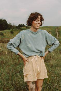 Blue Sky Clouds, Lounge Shorts, Shorts With Pockets, Detroit Michigan, Detroit Usa, Crew Neck Sweatshirt, Organic Cotton, Cool Outfits, Sweatshirts