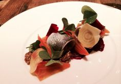 Herring w/beets and mustard at Nico in SF