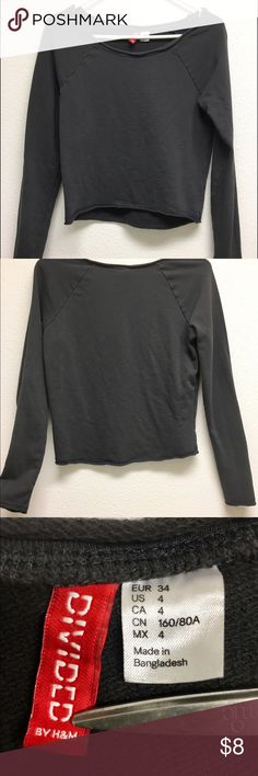 DIVIDED by H&M GRAY LONG SLEEVE TOP Worn once! Long sleeve, wide neck top. Thick, warm material and super comfortable. Divided Tops Tees - Long Sleeve