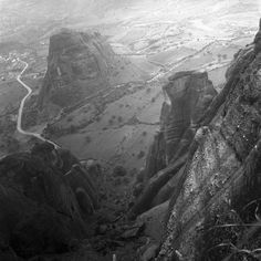 central greece may 1959 metéora set includes photographs of the monasteries and stone pillars of metéora. from nick and maggie's spring 1959 trip to europe. part of an archival project, featuring the photographs of nick dewolf Stone Pillars, Back In Time, Old City, Antelope Canyon, Athens, Old Photos, Europe, Mountains, Places