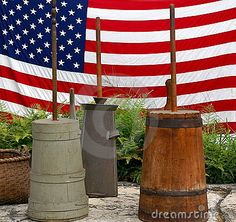 OLD BUTTER CHURNS