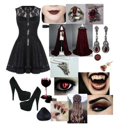 """Vampire AU - Queen Lilith"" by youngjaeouo on Polyvore featuring NOVICA"