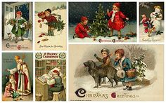 free to print Christmas collage
