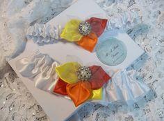 Fall Wedding Garter Set White Satin with by AllAHeartDesires, $56.00