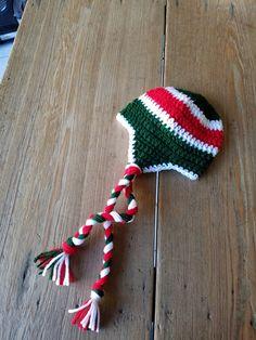 697bd0b3dd1 Crochet MINNESOTA WILD Ice Hockey HAT Warm Winter Baby Infant Newborn  Toddler Photo Prop Green Red W