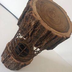 5 Creative Tricks: Wood Working For Beginners Shops wood working for beginners s. Rustic Lamps, Rustic Lighting, Unique Lighting, Metal Grill, Wooden Floor Lamps, Vintage Lanterns, Rusty Metal, Luminaire Design, Room Lamp