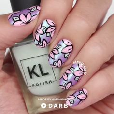 Cute Spring Floral Nail Art #darbysmart #beautytips #beautyhacks #beautytricks #beautytutorial #beauty #nailpolish #nailart #naildiy #naildesign #nailtutorial #diy
