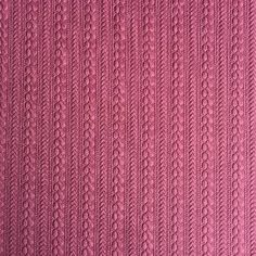 Fabric is sold in one metre increments as one continuous length. For example, if you would like 2 metres you will need to add 2 to your sewing basket.  Description: Textured cable knit with an embossed design. Vibrant dark pink in colour would make a stylish stunning seasonal jumper,