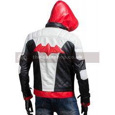 Men's Batman Jason Todd Arkham Knight Dawn of Justice Grey Leather Jacket with Vest