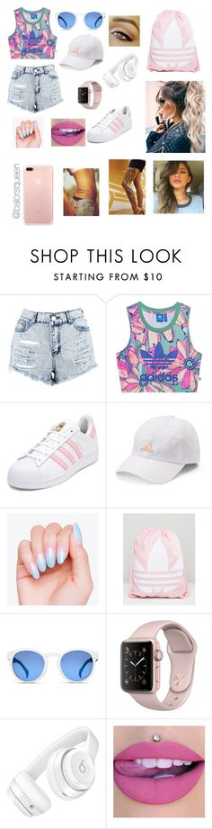 """""""OC ~Summer outfit"""" by balorsqueen ❤ liked on Polyvore featuring Boohoo, adidas Originals, adidas and Beats by Dr. Dre"""