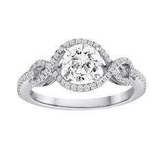 #whitegold #engagementring #diamond #round