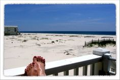 Seeing my toes, the ocean, sand, and beach all in the same place!!!  (preferably with a margarita within reach!)    Taken at Ft. Morgan, AL