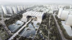 he architects von Gerkan, Marg and Partners (gmp) have been awarded first prize according to the jury in an international competition to build the Culture Center in the newly created Changzhou city center - competing. Changzhou, Future Buildings, Modern Buildings, Example Of News, Forest Design, Architecture Magazines, Glass Facades, Modern Metropolis, Cultural Center