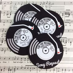 **PLEASE NOTE** These cards are printed on 350gsm UNCOATED card, (& not the laminated silk card that our place cards are printed on) so that they are easy for your guests to write on. If you would prefer them printed on silk card, please contact us before placing your order. Vinyl Record Inspired Wedding Song Request Cards. Perfect for a music themed wedding! Pop them in with your invites & have guests return them with their RSVPs! The cards are printed on 350gsm uncoated card, and ...