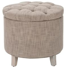 Safavieh Amelia Tufted Storage Ottoman in Grey at HSN.com.