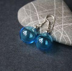 Blown hollow glass Earrings от LikeAGlassShop на Etsy