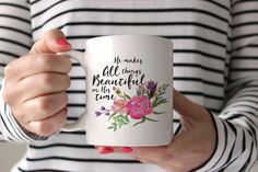 I love having coffee from this mug each morning. Such a lovely little reminder to trust God at the start of every day. Bonus, you have a chance to win one for your morning coffee on the June Arbor FB page!