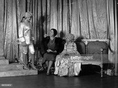 Princess Elizabeth (Queen Elizabeth II) dressed as Prince Charming with Queen Elizabeth, The Queen Mother (1900-2002) and Princess Margaret (1930-2002) as Cinderella during a royal pantomime at Windsor Castle, Berkshire, Great Britain, 21 December 1941.
