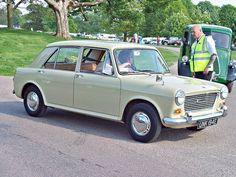 Austin 1100 4 door 1967, my first car in 1973. It was black and cost £400! my first car in that colour but Morris version.